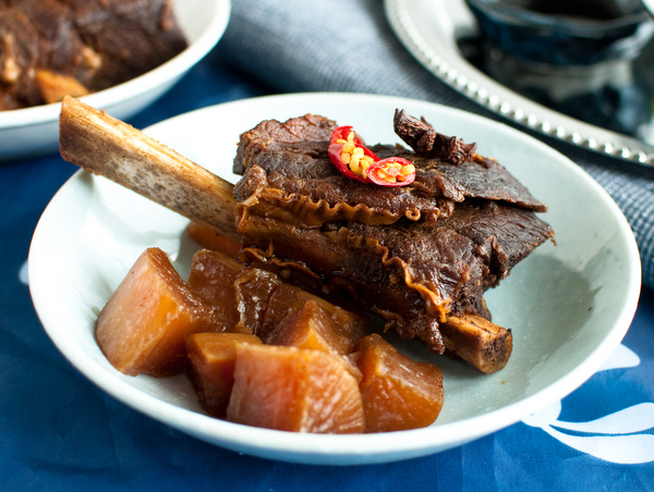 Master stock soy sauce beef ribs