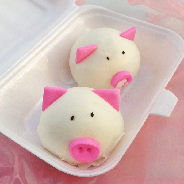 Kuching food festival piggy buns