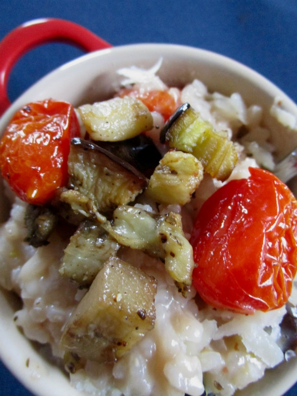 Roasted Tomato and Eggplant Risotto