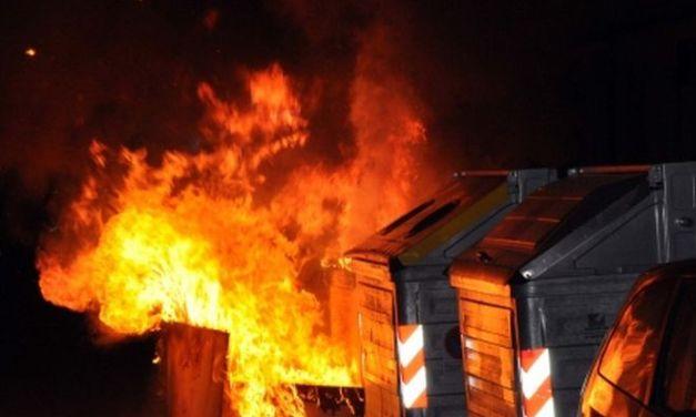 Voghera, ancora un incendio doloso a un cassonetto dei rifiuti