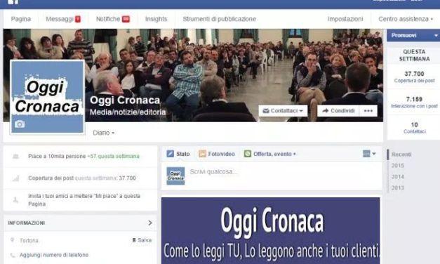 Ieri 5.896 visite sul sito di Oggi Cronaca, é il nuovo record da quando c'é l'abbonamento. Grazie a tutti voi!