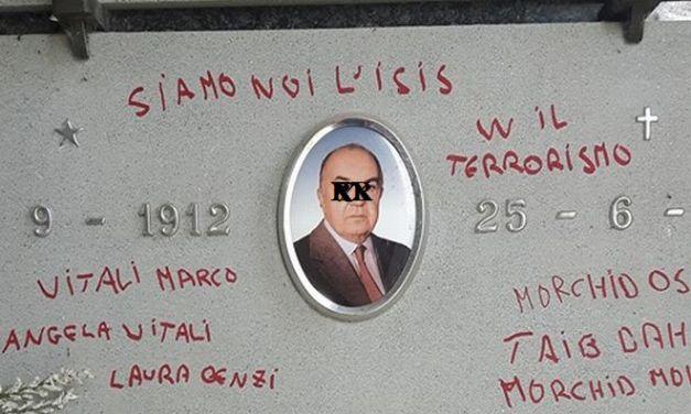Vandali al cimitero di Morano Po