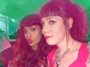 Myself and Jameela at Bourjois Boutique