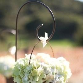 Piquet métal décoration cérémonie