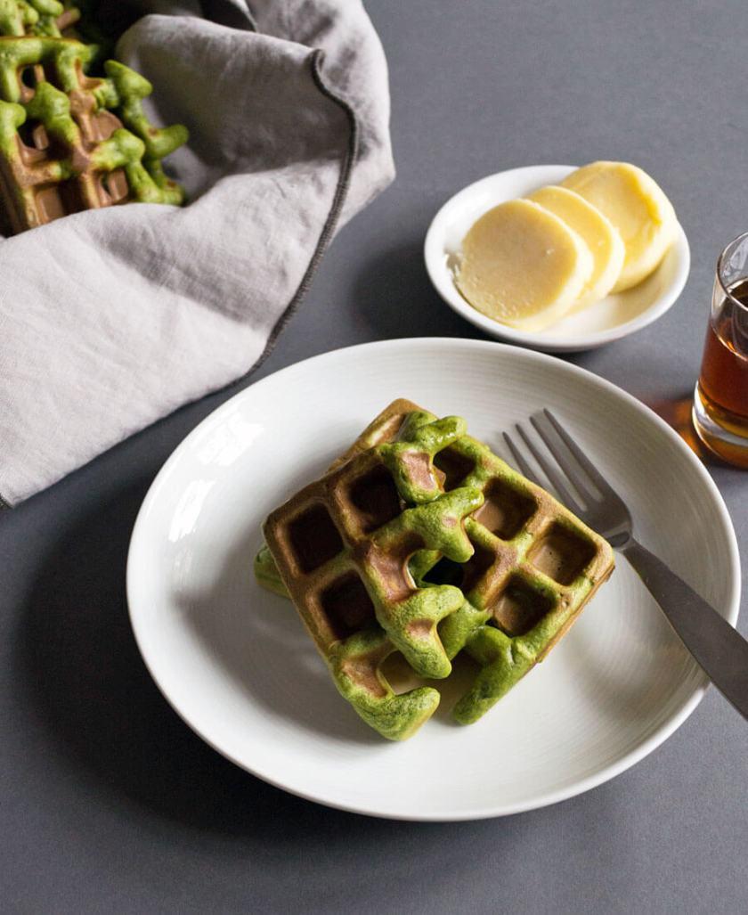 Matcha Green Tea Waffles Recipe