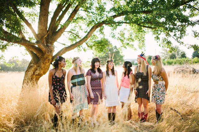 boho chic bachelorette party