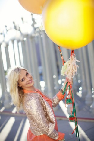 giant balloons tassel and braided ribbon DIY from Oh Lovely Day