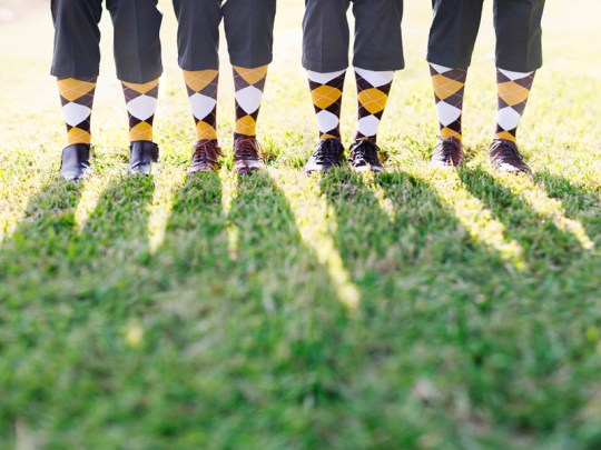groomsmen in argyle socks | handmade North Carolina wedding | Nathan Abplanalp Photography