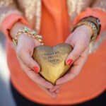 celebrating oh lovely day | gilded paper maché heart from paloma's nest | photo by amy stone