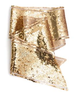 gold sequin scarf fr