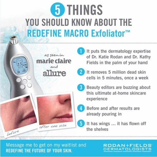 rodan + fields macro exfoliator