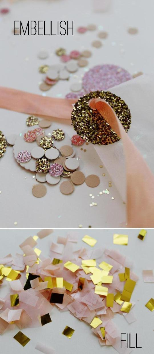 wedding favor confetti bag DIY