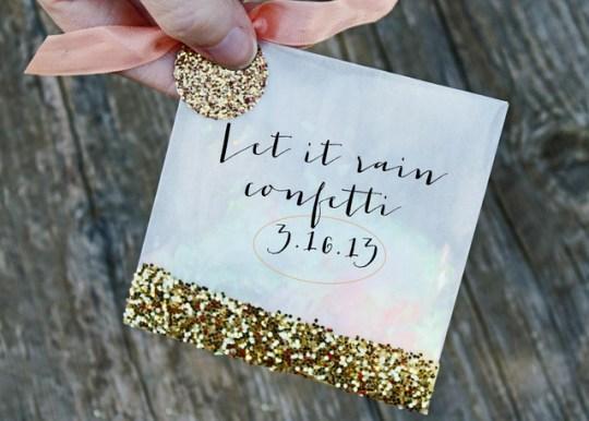 DIY confetti favor bags