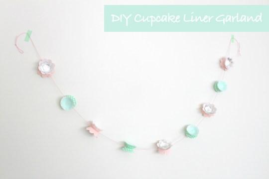 DIY cupcake liner garland