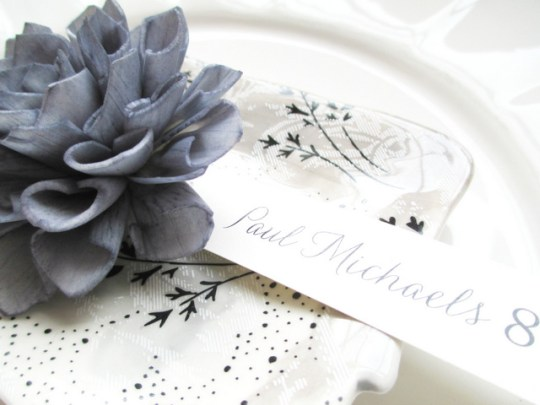 giveaway of 20 wooden floral escort cards from company 42 on oh lovely day
