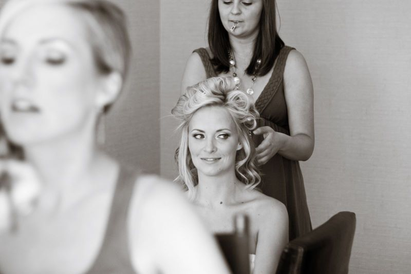 Getting makeup and hair done by the Flawless Faces team | Jennifer Roper