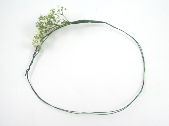 Baby's Breath Floral Crown headpiece DIY tutorial by BloomsByTheBox on Oh Lovely Day