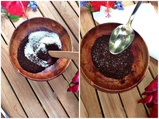 DIY coffee body scrub