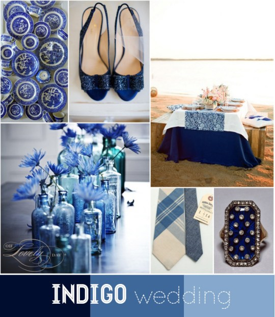 indigo wedding by oh lovely day