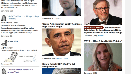 oh lovely day on huff post front page