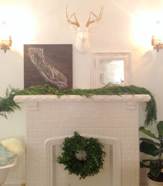 creation of a holiday mantle | Oh Lovely Day