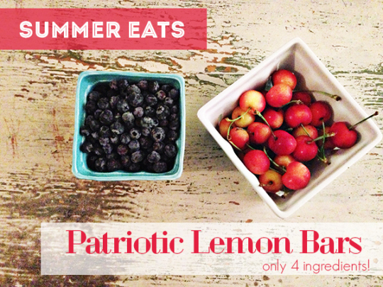 Happy July 4th | Patriotic Lemon Bars | Oh Lovely Day