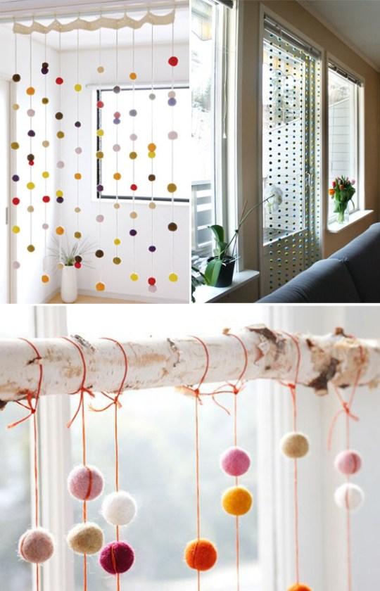 felt balls in interior decor   Oh Lovely Day