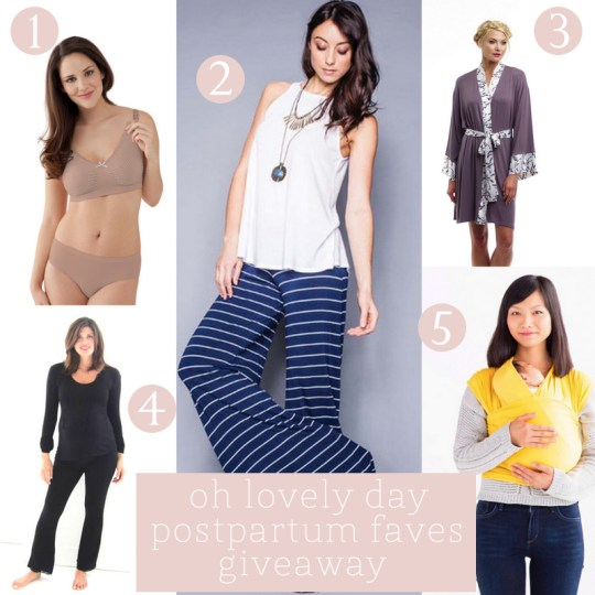 Oh Lovely Day postpartum favorite things giveaway