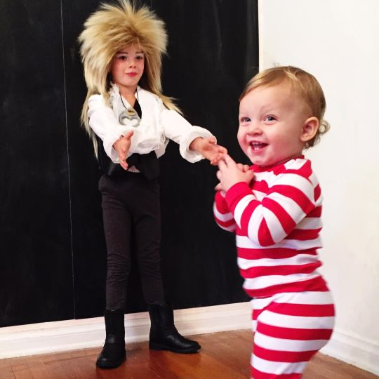 Jareth the Goblin King & Toby from The Labyrinth| Kid Halloween Costume Ideas; Charlie & Calvin | Oh Lovely Day