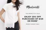 Madewell April 2014 Sale