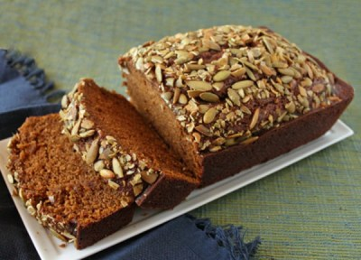 Low Fat Pumpkin Bread With Pepitas Recipe — Dishmaps