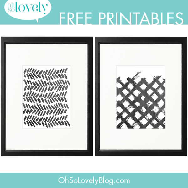 FREEBIES  //  MORE PAINT SWOOSH PRINTABLES