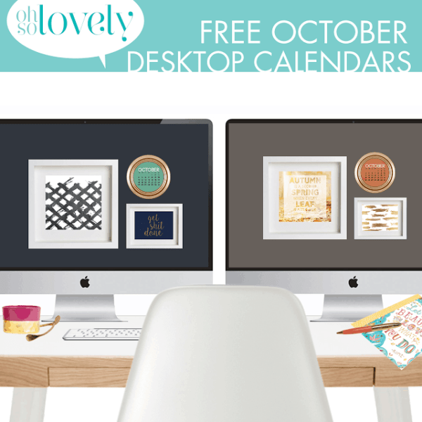 FREEBIES  //  OCTOBER 2015 DESKTOP CALENDARS
