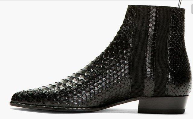 Men's Black Shoes top brands Saint Laurent