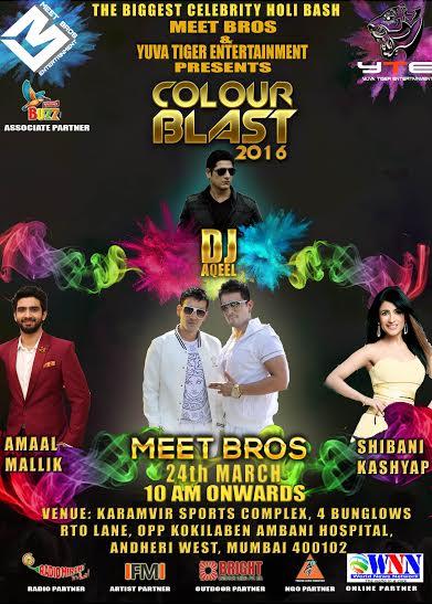 celebrity Holi Events in Bombay