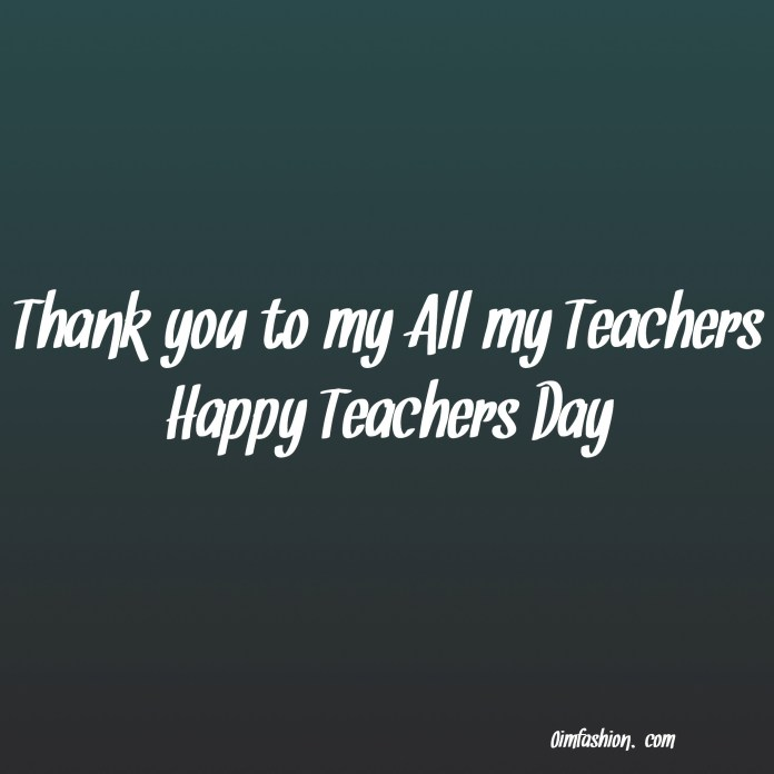 Teachers day quote