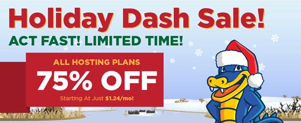 Hostgator Holiday Dash Sale Diskon 75%
