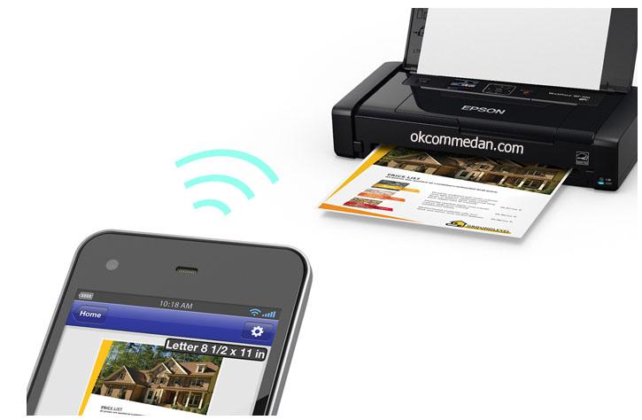 Printer Epson Portable Mobile Wireless Epson WF100