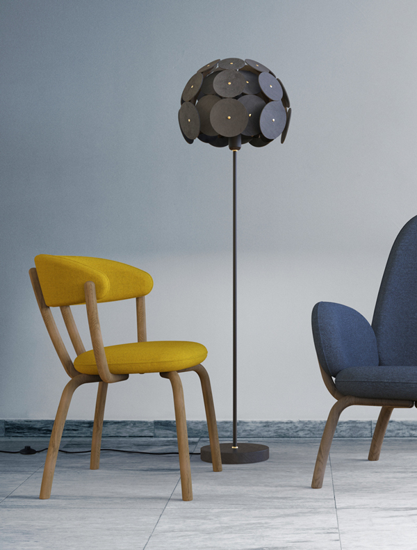 Bulle-d'Ardoise-Lamp-Pebble-Chairs