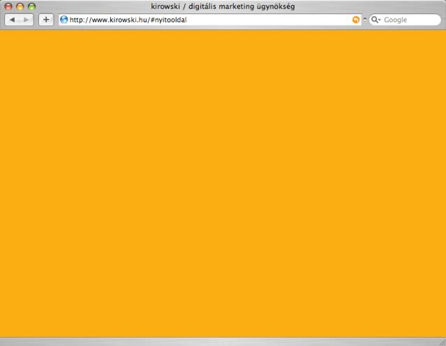 kirowski.hu nyitóoldala Flash nélkül