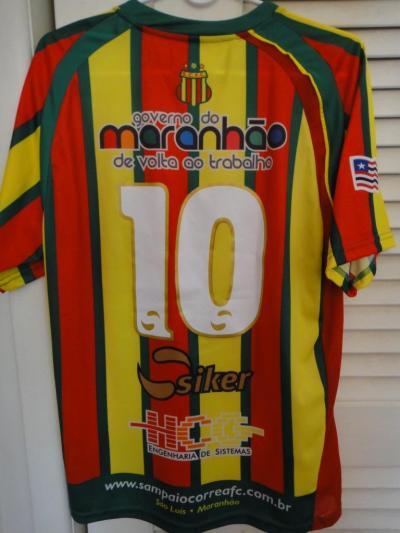 Sampaio Correa FC Casa camisa de futebol 2010. Adicionado em 2010-09-11, 18:41
