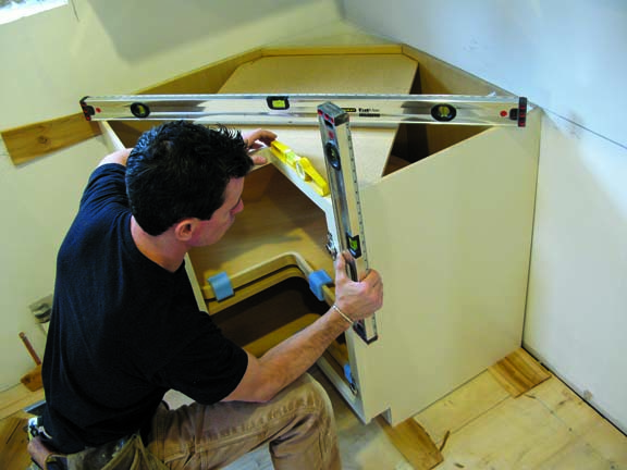 how to install kitchen cabinets install kitchen cabinets It s important to ensure that the cabinets are level and plumb in all directions