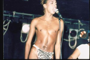 The young RuPaul performing in hometown Atlanta with early band Wee Wee Pole.
