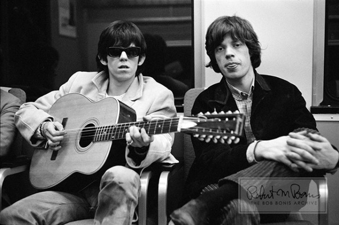 Mick Jagger y Keith Richards. Foto: Bob Bonis