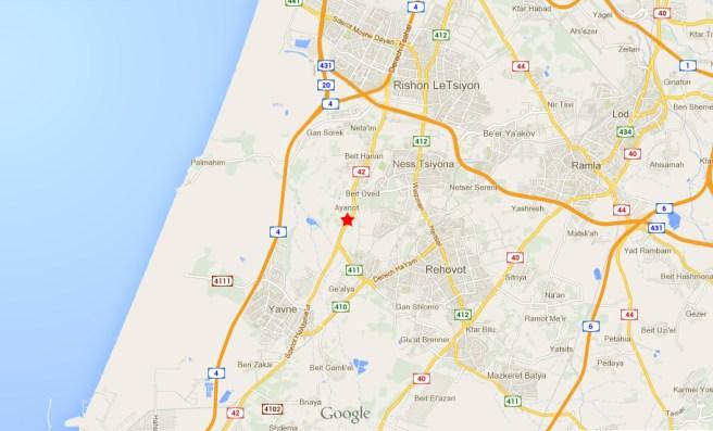 Расположение поселения Аянот