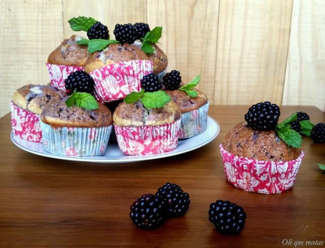 muffins con moras