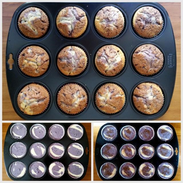 muffins violetas