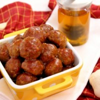 Honey Garlic-Glazed Meatballs