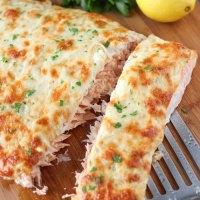 Cheesy Baked Salmon - Красная Рыба Под Сырной Шубой