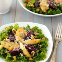 Kale Salad With Roasted Beets
